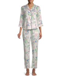 Jane And Bleecker - Printed Two-piece Pyjama Set - Lyst