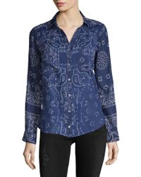 Raga - Printed Cotton Button-down Shirt - Lyst