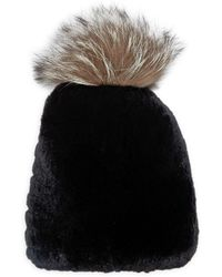 Annabelle New York - Chloe Rabbit Fur Beanie - Lyst