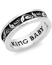 King Baby Studio - Sterling Sliver Engraved Ring - Lyst