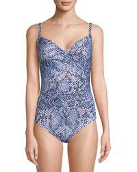 Calvin Klein - One-piece Printed Swimsuit - Lyst