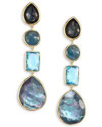 2e0b763d9e1 Ippolita - Rock Candy® 18k Yellow Gold Four-stone Linear Drop Earrings -  Lyst