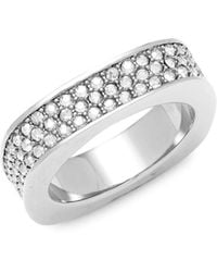 Swarovski - Crystal Sterling Silver Ring - Lyst