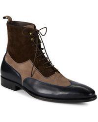 Mezlan - 18769 Leather & Suede Wingtip Boots - Lyst