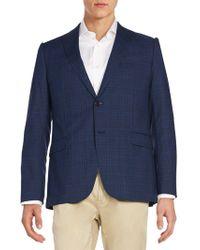 Armani - Plaid Wool Jacket - Lyst
