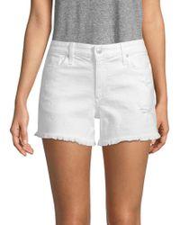 Joe's - Odessa Frayed Denim Shorts - Lyst