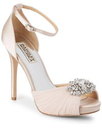 Badgley Mischka - Tad Embellished Stiletto Sandals - Lyst