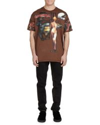 Givenchy - Heavy-metal Pieced Graphic Tee - Lyst