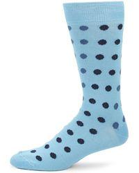 Saks Fifth Avenue - Polka Dots Mid-calf Socks - Lyst