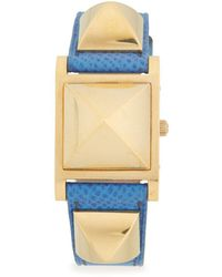 Hermès - Vintage Medor Leather-strap Watch - Lyst