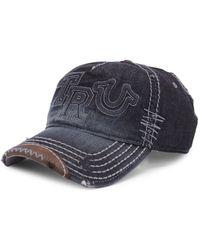 True Religion - Denim Cotton Baseball Cap - Lyst