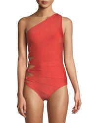 Carmen Marc Valvo - One-piece One-shoulder Swimsuit - Lyst