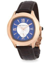 Bruno Magli - Water Resistant Leather-strap Watch - Lyst