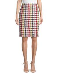 Oscar de la Renta - Multicolored Wool Blend Skirt - Lyst
