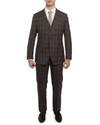 English Laundry - Plaid Wool Suit - Lyst