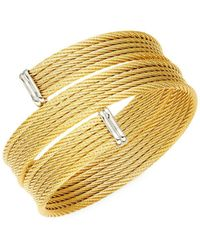 Alor - Classique 18k Yellow Gold & Stainless Steel Bracelet - Lyst