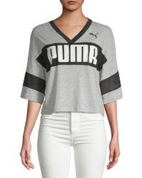 PUMA - Urban Sports Cropped Tee - Lyst