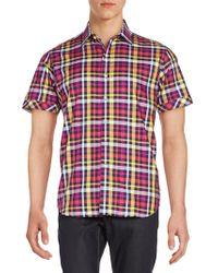 Robert Graham - Regular-fit Coral Cliff Plaid Cotton Sportshirt - Lyst