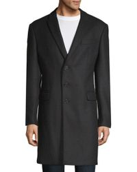 Armani - Textured Long Coat - Lyst