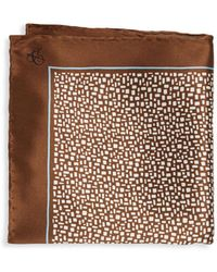 Canali - Printed Neat Silk Pocket Square - Lyst