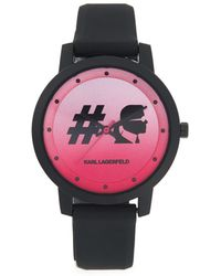 Karl Lagerfeld - 37mm Camille Silicone Watch - Lyst