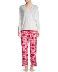 Hue - Two-piece Snowman Dot Pyjama Set - Lyst
