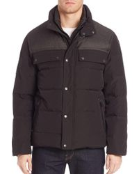 Cole Haan - Quilted Down Military Jacket - Lyst