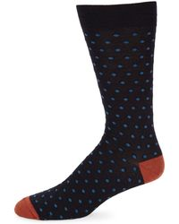 Saks Fifth Avenue - Printed Crew Socks - Lyst