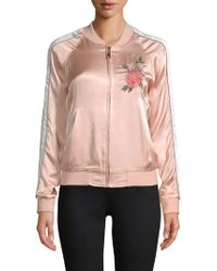 ei8ht dreams - Floral Embroidered Satin Bomber Jacket - Lyst