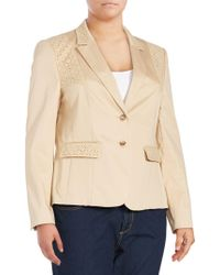 Basler - Long-sleeve Cotton-blend Jacket - Lyst