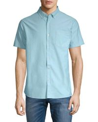 Tavik - Uncle Short-sleeve Cotton Button-down Shirt - Lyst