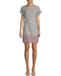 Beach Lunch Lounge - Printed Belted Shift Dress - Lyst