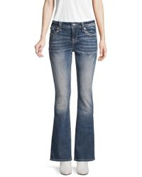 Miss Me - Faded Flared Bootcut Jeans - Lyst