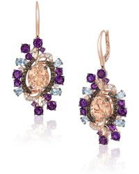 Le Vian - Crazy Semi-precious, Multi-stone And 14k Strawberry Gold Drop Earrings - Lyst