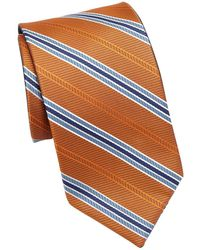 Saks Fifth Avenue - Collection Double Face Stripe Silk Tie - Lyst