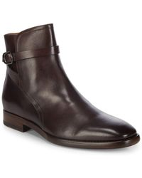 Frye - Wright Jodhpur Leather Ankle Boots - Lyst