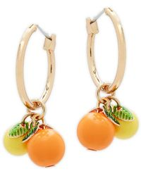 Natasha Couture - Fruit Hoop Earrings - Lyst