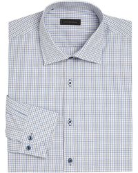 Saks Fifth Avenue - Window Pane Checked Shirt - Lyst