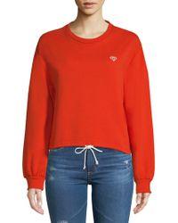Lea & Viola - Crop Drawstring Sweatshirt - Lyst
