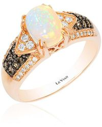 Le Vian - Chocolate & Vanilla Diamond, Neopolitan Opal And 14k Strawberry Gold Ring - Lyst
