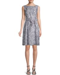 Anne Klein - Rosewater Shadow Stripe A-line Dress - Lyst