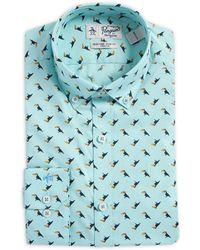Original Penguin - Slim-fit Toucan Button-collar Dress Shirt - Lyst