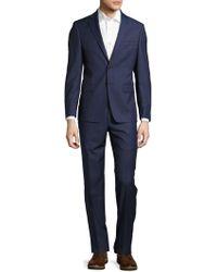 Calvin Klein - Slim-fit Solid Polished Woolen Suit - Lyst