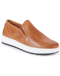 Vince Camuto - Sebasten Leather Slip-on Trainers - Lyst