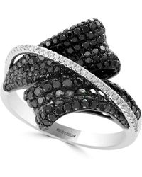 Effy - Black Diamond, Diamond And 14k White Gold Ring, 2.24 Tcw - Lyst