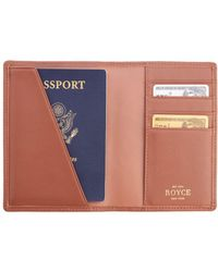 Royce - Rfid Blocking Leather Passport Wallet - Lyst