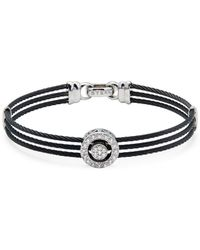 Alor - Diamond & 18k White Gold Multi-strand Bracelet - Lyst