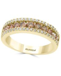 Effy - Final Call Diamond & 14k Yellow Gold Band Ring - Lyst