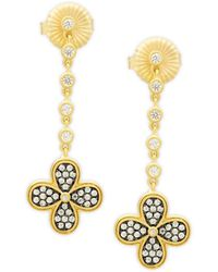 Freida Rothman - Floral Drop Earrings - Lyst
