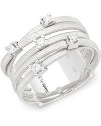 Marco Bicego - Goa Diamond And 18k White Gold Ring - Lyst